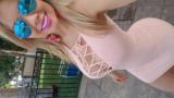 Dançarina de banda de forró caiu na net dando o rabinho