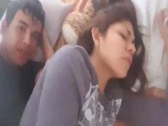 Luis gravou fodendo a amiga safada na cama